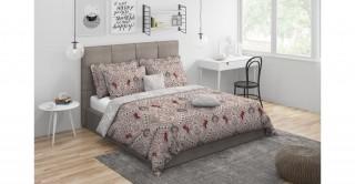 Welington Comforter Set 5Pcs,Brgndy King Size