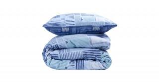 Plaid Cotton Comforter Set 240 cm - (3Pc)