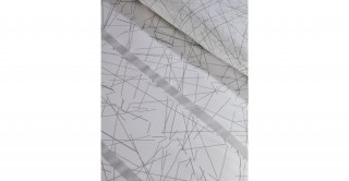Himari 2Pc Cotton Duvet Cover Set Silver 200 cm