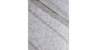 Himari 2Pc Cotton Duvet Cover Set Silver 240 cm