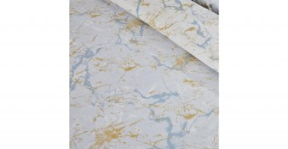 Marble 2Pc Cotton Duvet Cover Set Sky 135 cm