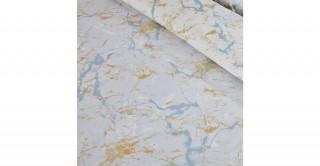 Marble 2Pc Cotton Duvet Cover Set Sky 240 cm
