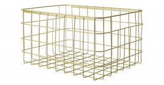 Villena Wire Basket Gold