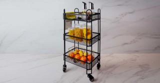 Villena Bar Cart Black