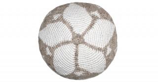 Floret Woven Cushion Beige 45 cm