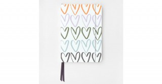 Rainbow Hearts A5 Notebook