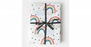 Rainbow Foil Flat Wrap