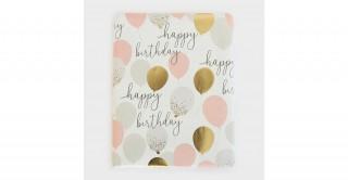 Foil Balloons Birthday Flat Wrap