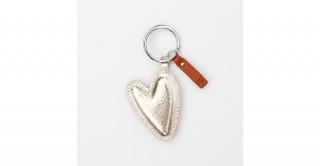 Gold Heart Keyring