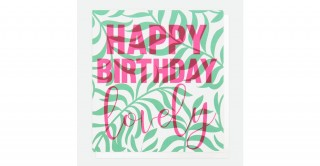 Happy Birthday Lovely Palm Leaves Card