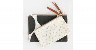 Big Spot/Hearts Canvas Pouch Duo