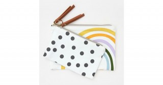 Rainbow Spot Canvas Pouch Duo