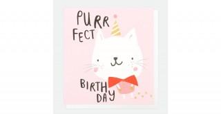 Purrfect Birthday Cat Card