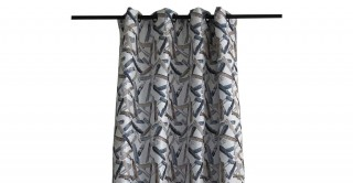 Stroke Chinille Curtain Blue