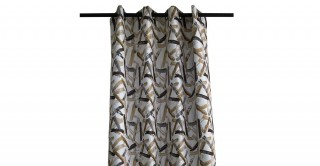 Stroke Chinille Curtain Yellow