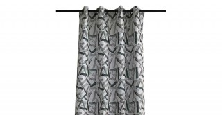Stroke Chinille Curtain Green