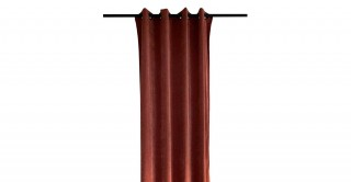 Solid Chinille Curtain Rust