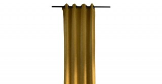 Solid Chinille Curtain Yellow