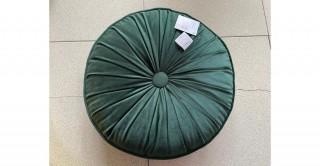 Pleated Round Cushion Green