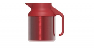 Nova Teapot Metallic Burgundy 1500ml