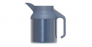 Nova Coffeepot Metallic Grey Blue 1500ml