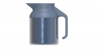 Nova Teapot Metallic Grey Blue 1500ml