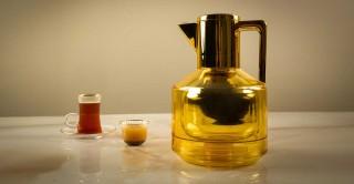 Hebe Tea Pot Amber