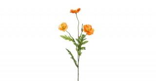 Poppy Spray 64cm Yellow/Orange