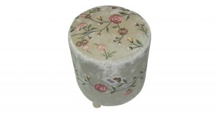 Floret  Embroideryidered Stool Gold 30 cm