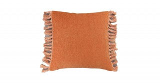 Tessa Tassel Cushion Rust 45 cm