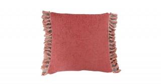 Tessa Tassel Cushion Burgundy 45 cm