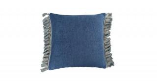 Tessa Tassel Cushion Blue 45 cm