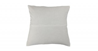 Ribbed Velvet Cushion White 45 cm