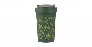 Typhoon Pure Green Is The New Black Travel Mug 380Ml