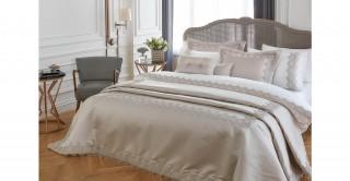 Lacey 5Pc Bridal Comforter Set Grey 260 x 270