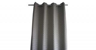 Metallic Jacquard Curtain Grey 135 x 300