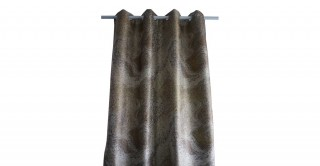 Metallic Jacquard Curtain Gold 135 x 300