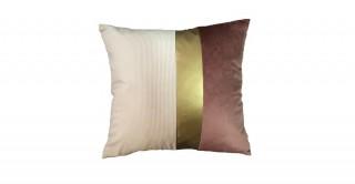 Toledo Patchwork Cushion Burgundy 40 cm