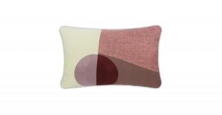 Toledo Patchwork Cushion Burgundy 45 cm