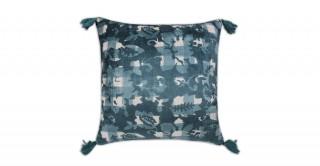 Clark Printed Cushion Blue 40 cm
