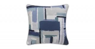Samira Printed Cushion Blue 40 cm