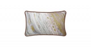 Vasell Printed Cushion Gold 45 cm