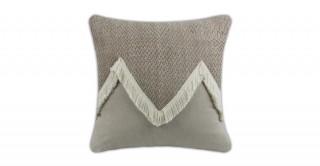 Rova Knitted Cushion White 40 cm