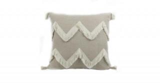 Eden Knitted Cushion White 45 cm