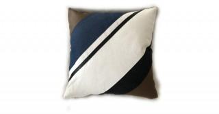 Dublin Patchwork Cushion Brown 45 cm