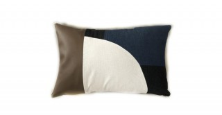 Suna Patchwork Cushion Brown 45 cm