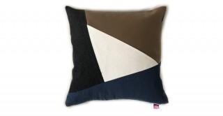 Noir Patchwork Cushion Brown 45 cm