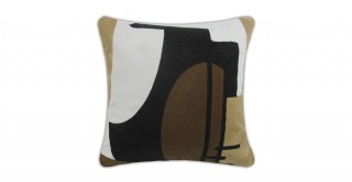 Cailey Embroidered Cushion Brown 40 cm