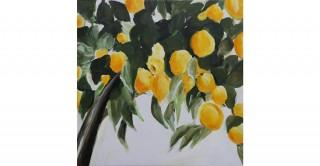 Lemon Branch Handmade Oil Painting