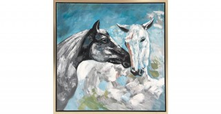 Equus Handmade Oil Painting White